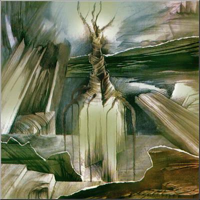 Burning Bush Mixed Media - Burning Bush3 1982 by Glenn Bautista