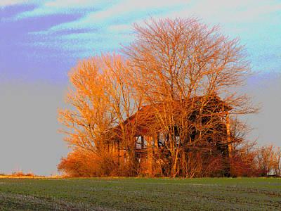 Burning Bush Digital Art - Burning Down The House by Jimi Bush