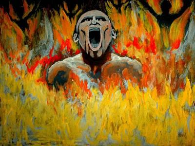 Burning In Hell Art Print by Anthony Renardo Flake
