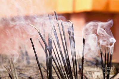 Burning Incense Art Print by Inti St. Clair