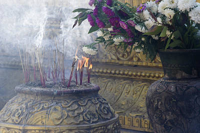 Photograph - Burning Incense by Michele Burgess