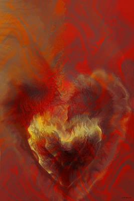 Burnt Digital Art - Burning Love by Linda Sannuti