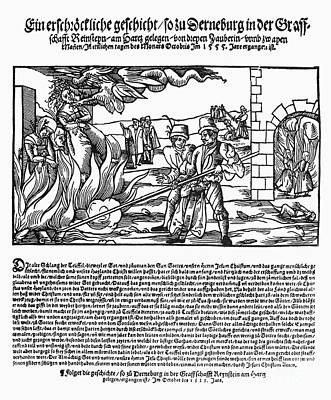 Burning Of Witches, 1555 Art Print by Granger