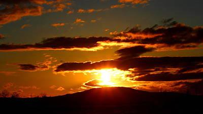 Photograph - Burning Sky Sunset by Brian Bielert