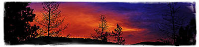 Montana Landscapes Photograph - Burning Sunrise by Janie Johnson