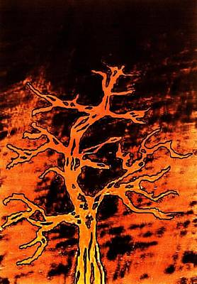 Digital Art - Burning Tree by Richard Lloyd
