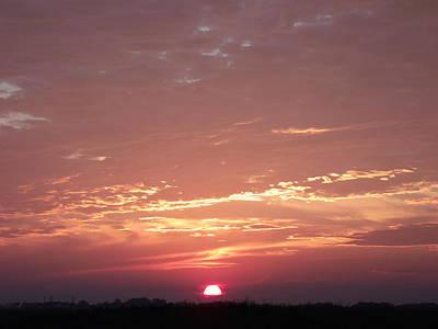 Burnt Red Sunset Original