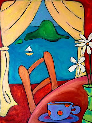 Washington State Skagit County Painting - Burrow Island Anacortes by Carla MacDiarmid