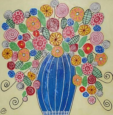 Burst Of Flowers Art Print by Elizabeth Langreiter