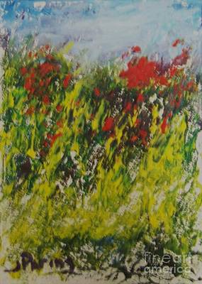 Wall Art - Painting - Burst Of Red by Judy Parins