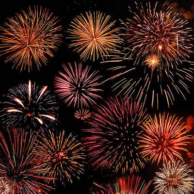 Y120831 Photograph - Bursts Of Fireworks by © 2011 Dorann Weber