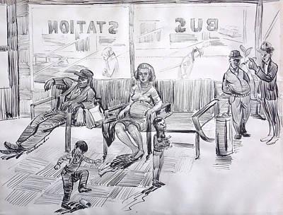 Bus Station Art Print by Bill Joseph  Markowski