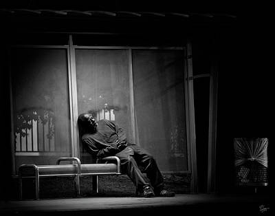Photograph - Bus Stop by Endre Balogh