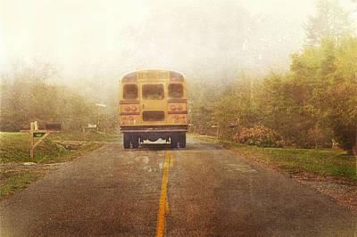 Bus Stop Art Print by Kathy Jennings