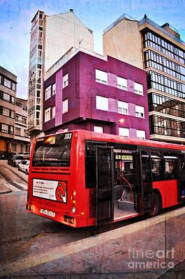Digital Imaging Photograph - Bus Stop - La Coruna by Mary Machare