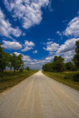 Gravel Road Digital Art - Busch Wildlife Hiking Trail by Bill Tiepelman