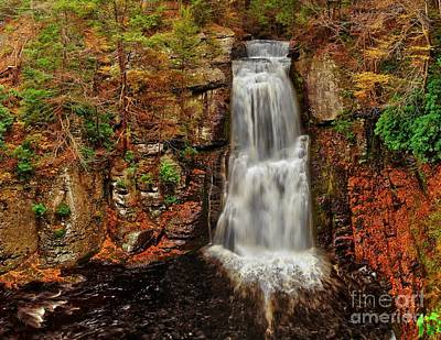 Bushkill Main Falls Art Print by Nick Zelinsky