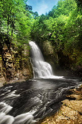 Bushkill Waterfalls Art Print by Yhun Suarez