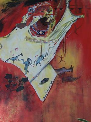 Bushman Painting - Bushman Of Africa by Vijay Sharon Govender