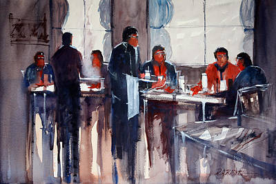 Eating Painting - Business Lunch by Ryan Radke