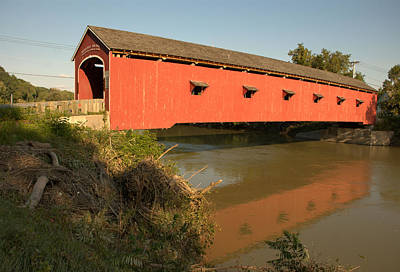 Print featuring the photograph Buskirk Covered Bridge by Steven Richman