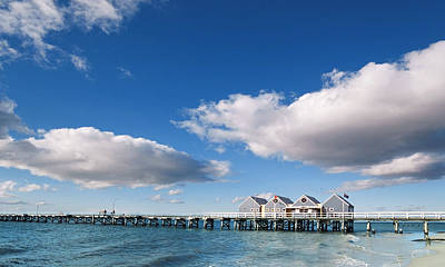 Busselton Photograph - Busseltons Two Kilometre Long Historic Jetty, Western Australia by Peter Walton Photography