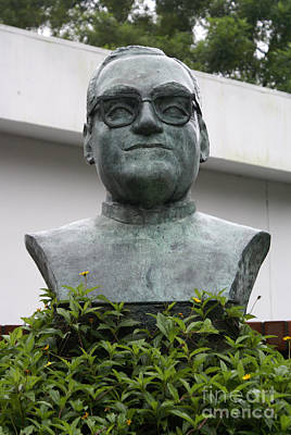 Photograph - Bust Of Archbishop Oscar Romero San Salvador by John  Mitchell