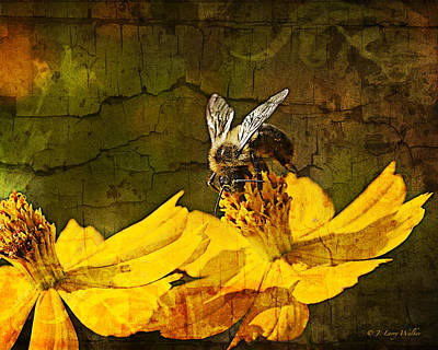 Digital Art - Busy Bee by J Larry Walker