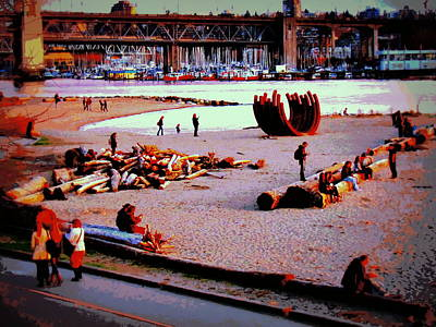 Photograph - Busy City Beach by Eva Kondzialkiewicz