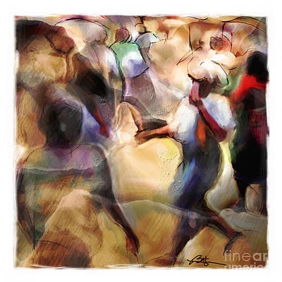 Busy Corner Art Print