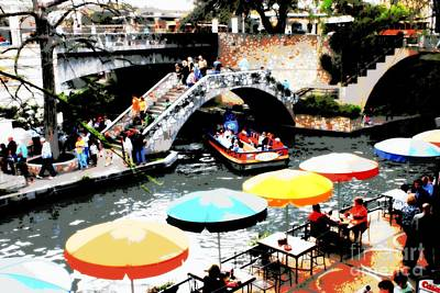 Photograph - Busy San Antonio River Walk by Carol Groenen