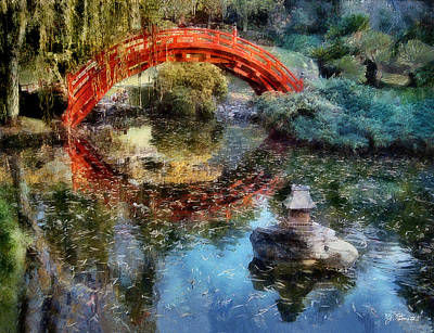 Photograph - Butchart Gardens Bridge by Joe Bonita