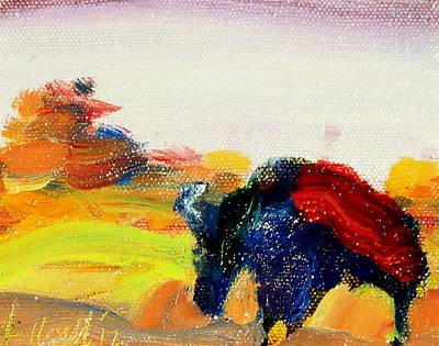 Painting - Butte Buffalo by Les Leffingwell