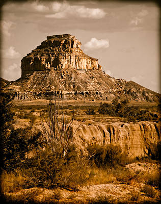 Chaco Canyon, New Mexico - Butte Art Print