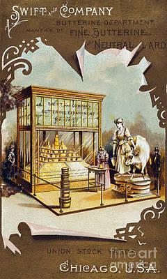 1880s Photograph - Butter Trade Card, C1880 by Granger