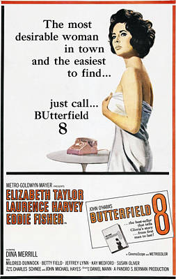 Covering Up Photograph - Butterfield 8, Elizabeth Taylor, 1960 by Everett