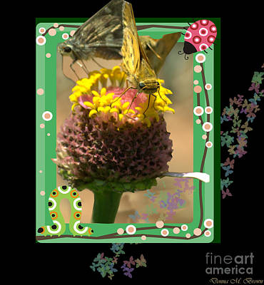 Photograph - Butterflies 3d by Donna Brown