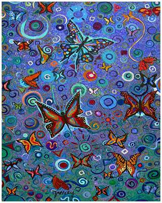 Purple Painting - Butterflies by Paintings by Gretzky