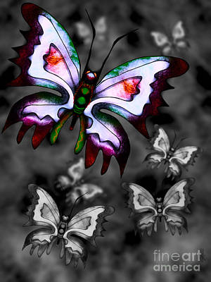 Digital Art - Butterflies by J Kinion