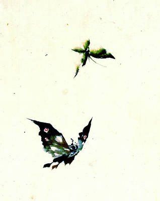 Butterfly And Moth 1840 Art Print