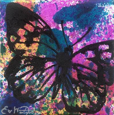 Butterfly Bliss Art Print by Oddball Art Co by Lizzy Love