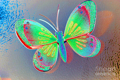 Photograph - Butterfly Decoration by Susan Stevenson