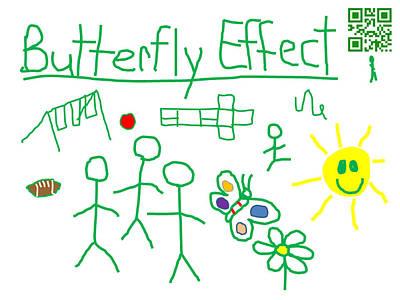 Hopscotch Digital Art - Butterfly Effect by Jeffrey Church