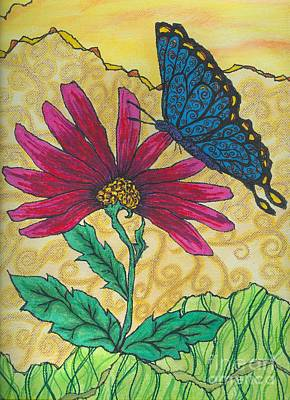 Butterfly Explorations Art Print by Denise Hoag