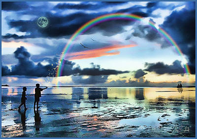 Tom Schmidt Painting - Butterfly Heaven by Tom Schmidt