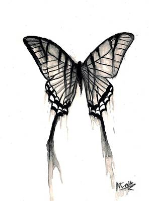 Mike Grubb Wall Art - Painting - Butterfly Tears 2 by Michael Grubb