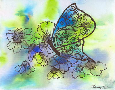 Butterfly Transformations Art Print by Denise Hoag