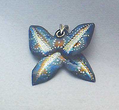 Hand Painted Pendant Jewelry - Butterfly1 by Asya Ostrovsky