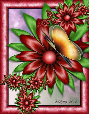 Digital Art - Butterfly's Kiss by Karla White