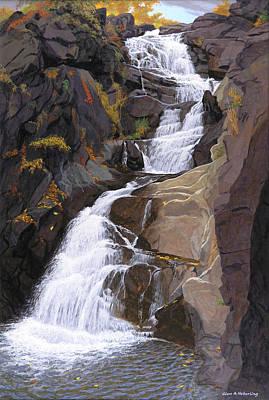 Buttermilk Falls Art Print by Glen Heberling